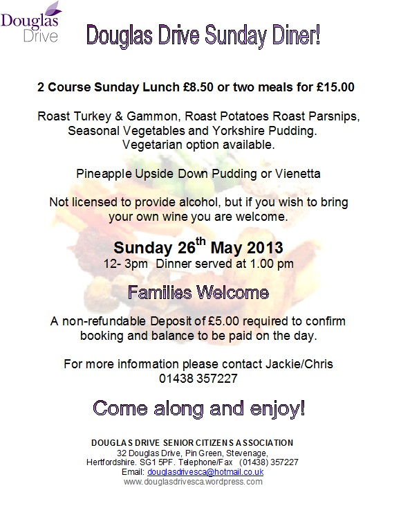 Sunday Diner 2013