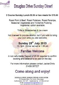 Sunday Diner July 2013