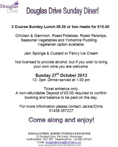 Sunday Diner Oct 2013