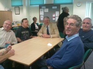 The High Sheriff of Hertfordshire Fergus McMullen chatting with members of the Tuesday Group