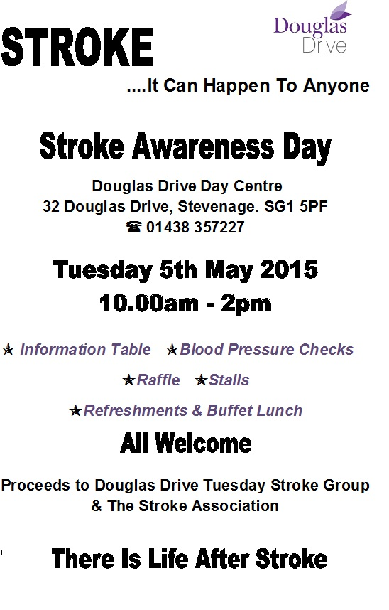 Stroke Awareness Day 2015 Poster
