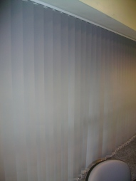 Blinds in main hall