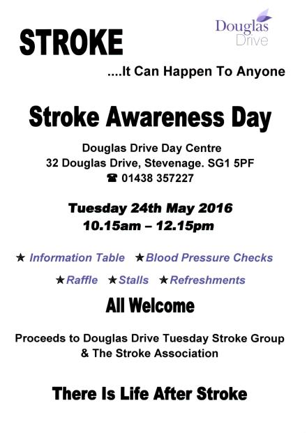 Stroke Awareness Poster 2016